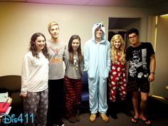 Olivia Holt Cute In Her Hello Kitty PJs With Friends February 5, 2013