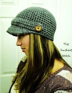 "PATTERN pdf crochet adult newsboy cap ""Puddle Jumper Newsboy Hat""  Adult"