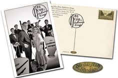 Long John & The Ballroom Kings Retro-Postkarte  www.strawfish.com