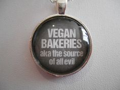 Supernatural Vegan Bakeries Necklace by JewelryLegacy on Etsy https://www.etsy.com/listing/174320722/supernatural-vegan-bakeries-necklace