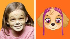 """NickALive!: Learn How To Look Like Rubble And Skye From """"PAW Patrol"""" This Halloween"""