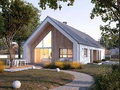 Modern Barn House, Barn House Plans, Modern Cottage, Dream House Plans, Modern House Design, Glass House Design, Riverside House, Home Greenhouse, Cottage Design