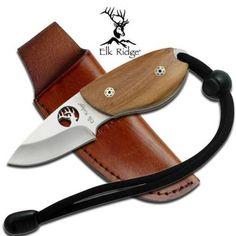 Elk-Ridge-Mini-5-Fixed-Blade-Knife-Skinning-Skinner-Full-Tang-Olive-Wood-298OW
