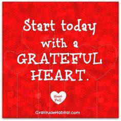 Full heart.  Visit us at: www.GratitudeHabitat.com #gratitude #grateful #grateful-heart