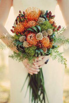 Fall Bouquet (via Bridal Musings) Fall Bouquets, Fall Wedding Bouquets, Fall Wedding Flowers, Bride Bouquets, Wedding Colors, Autumn Flowers, Wildflowers Wedding, Seasonal Flowers, Summer Flowers