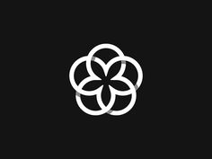 Flower designed by Kakha Kakhadzen. Connect with them on Dribbble; Logo Branding, Branding Design, Logo Fleur, Logo Minimalista, Cosmetic Logo, Yoga Logo, Flower Logo, Circle Logos, Minimal Logo