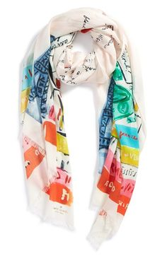 kate spade new york 'bucket list' scarf | Nordstrom