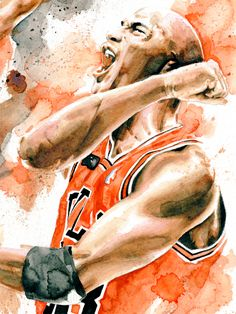 Illustration - NBA - Jordan tribute by Drumond Art, via Behance
