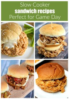 Celebrate National Slow Cooker Month with this Slow Cooker Buffalo Chicken recipe and 3 more slow cooker sandwich recipes that are perfect for game day. #PinkRelief [ad]