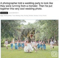 Best wedding photo ever. Totally doing this haha