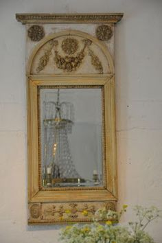 Swedish gustavian style mirror