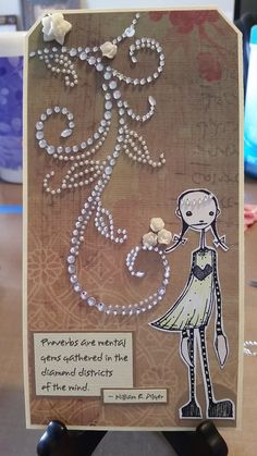 Artwork created by Kay Wallace using rubber stamps designed by Daniel Torrente for Stampotique Originals