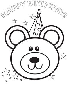Printable Happy Birthday Coloring Cards Coloring Pages