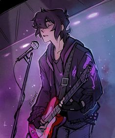 Keith as a rock and roll singer with his red guitar from Voltron Legendary Defender Voltron Klance, Voltron Memes, Voltron Fanart, Form Voltron, Voltron Ships, Voltron Comics, Keith Kogane, Percy Jackson, Fan Art
