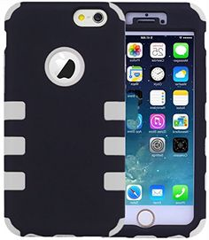"""myLife 2 Layered Protection Hybrid Bumper Case for iPhone 6 Plus (5.5"""" Inch) by Apple {Icy White and Black """"Modern Smooth Finish"""" Three Piece SECURE-Fit Rubberized Gel} myLife Brand Products http://www.amazon.com/dp/B00PUT1NKW/ref=cm_sw_r_pi_dp_Gu2Cub0W4NWDE"""