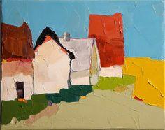 """""""Neighbors"""" original fine art by Donna Walker"""