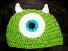 Crochet toddler green monsters inc mike wazowski hat 6-12 months via Etsy