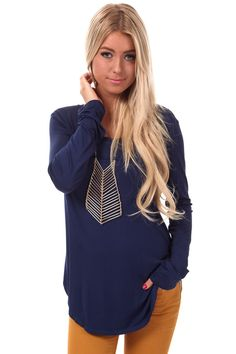 Lime Lush Boutique - Navy Long Sleeve Round Neck Top, $26.99 (http://www.limelush.com/navy-long-sleeve-round-neck-top/)