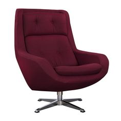 INGMAR LOUNGE CHAIR BURGUNDY - Lounge Chairs - Seating - Living - HD Buttercup Online – No Ordinary Furniture Store – Los Angeles & San Francisco
