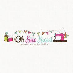 Sewing Machine Logo Sewing Logo Seamstress by stylemesweetdesign