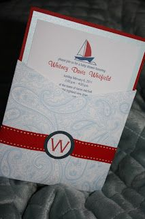 A Little Something Detailed: Pocket Baby Shower Invitation: Nautical Theme