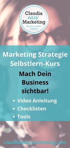 Kunden gewinnen mit einer erfolgreichen Marketing Strategie! Selbstlern-Kurs mit Video Anleitung und vielen wertvollen Downloads. #Marketing #Strategie #Kundengewinnung #Onlinekurs #Anleitung #Checkliste #Tools #Video
