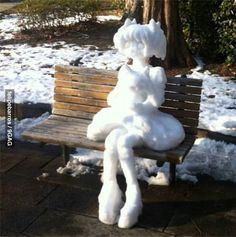 Asians beat you even at making snow people!