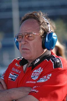 """Conrad """"Connie"""" Kalitta.  """"The Bounty Hunter"""".  Top Fuel Dragster and 1992 member of the Motorsports Hall of Fame. First driver to hit 200mph in NHRA event, won 10 events from 1967-1994. Helped Shirley Muldownery """"The Bounty Huntress: get started, father to the late Scott Kalitta and uncle to Doug Kalitta"""