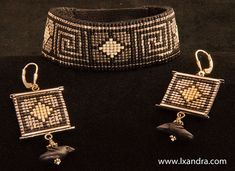 Greek Key Woven Beaded Bracelet or Cuff and by LXandraJewellery, $138.00