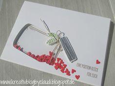 Kreativ Blog by Claudi: Glasklare Grüße zur Hochzeit