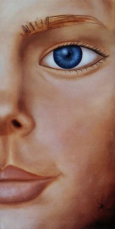 Eye Portrait of young girl