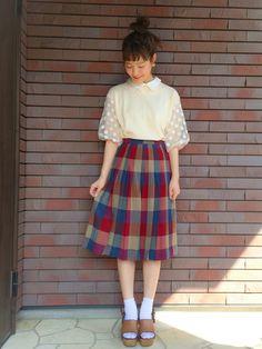mahoさんのコーディネート Japanese Street Fashion, Tokyo Fashion, Harajuku Fashion, Cute Fashion, Modest Fashion, Vintage Fashion, Fashion Outfits, Fashion Quiz, Ulzzang Fashion