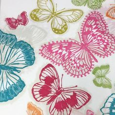 Butterfly Circle Duvet Cover Set, Multicolour