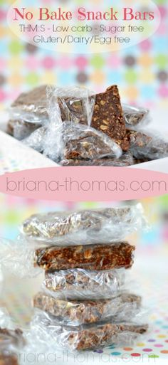 No Bake Snack Bars...THM:S, Low carb, Sugar free, Gluten/Dairy/Egg free