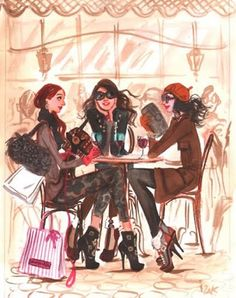 women in paris with their dogs and high heels- Izak Zenou--artist Sharon Santoni Henri Bendel, Illustration Sketches, Art Sketches, Love Fashion, Fashion Art, Artist Fashion, Image Mode, Moda Chic, Fashion Sketches