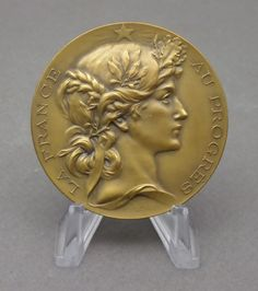 French Medal Woman Marianne France Art Deco Nouveau by Bottée with Box | eBay