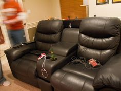 The Ultimate Living Room Gaming Center - sweet gaming chairs