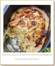 Gratin de pommes de terre à la crème de champignons