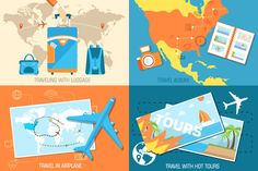 Check out hot tour of the world vector concept by Sir.Enity on Creative Market