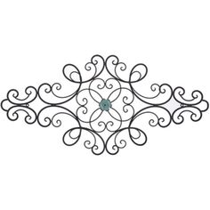 Black Metal Scroll Wall Decor with Interchangeable Flower.Shabby Chic Decor #Unbranded #ArtDecoStyle