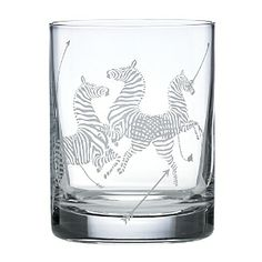 Scalamandre Zebra Double Old Fashioned Glasses #cocktails #happyhour