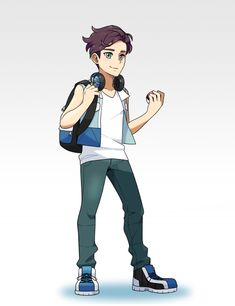 Blake  A 17-year-old young man who has grown up quietly in the Estelia State. Due to his rural upbringing, he has an easygoing disposition and likes to take things as they come. In battle, Blake is calm, collected and calculating, traits that his Pokémon perfectly mimic. This young man and his trusty partners will face any and all challenges with their heads held high, never losing their cool no matter how tight the situation may be.
