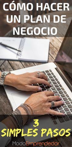 Haz un plan de negocio en 3 simples pasos. Crear empresa. Escribir un plan de negocio.