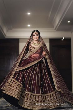 The Bridal Lehenga store lends time, quality and variations, to contemplate the right choice. Also, worldwide shipping is available. Indian Bridal Outfits, Indian Bridal Fashion, Indian Bridal Wear, Indian Designer Outfits, Indian Designers, Designer Bridal Lehenga, Wedding Lehenga Designs, Desi Wedding Dresses, Pakistani Bridal Dresses