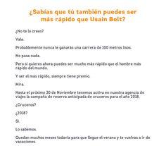 Ofertas en www.viajesviaverde.es: Usain Bolt nunca te ganará en esto