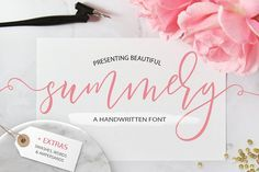 Summery Handwritten Calligraphy Font by Switzergirl on @creativemarket