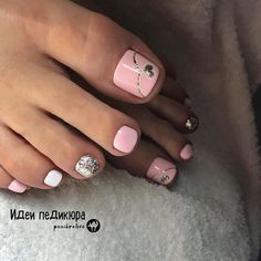 The advantage of the gel is that it allows you to enjoy your French manicure for a long time. There are four different ways to make a French manicure on gel nails. The choice depends on the experience of the nail stylist… Continue Reading → Pretty Toe Nails, Cute Toe Nails, My Nails, Gel Toe Nails, Pink Toe Nails, Pretty Pedicures, Cute Toes, Pretty Toes, Toe Nail Color