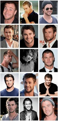 The many beautiful faces of Chris Hemsworth