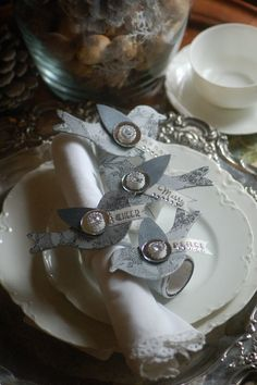 silvered napkin rings