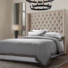 Linen Wash Bedding Set in Stone Gray
